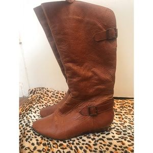 Leather heeled boots. Gently Used OBO